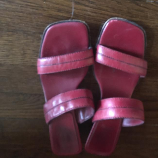 Cole Haan Red 2 Strap Moderate Heel Slides Sandals Size US 7.5 Regular (M, B) Cole Haan Red 2 Strap Moderate Heel Slides Sandals Size US 7.5 Regular (M, B) Image 1