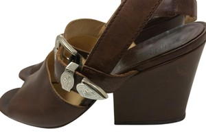 Prevata Italian Leather Summer Vintage Brown Sandals