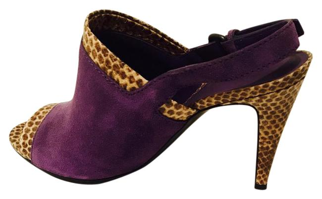Bottega Veneta Purple Leather Snake Skin Pumps Size US 8.5 Wide (C, D) Bottega Veneta Purple Leather Snake Skin Pumps Size US 8.5 Wide (C, D) Image 1