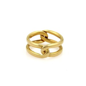 Cartier Vintage 18k Yellow Gold 2 Parts Puzzle Band Ring Size EU 50-US 5.5