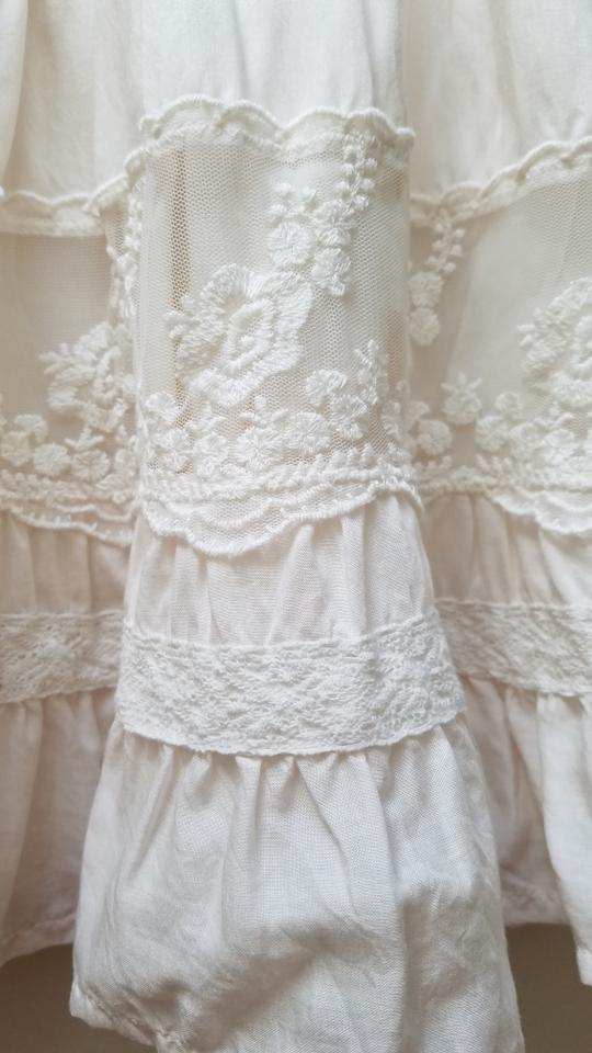 85bbdeceb Abercrombie & Fitch Cream Brittany Natural Waist Lace Skater Skirt ...