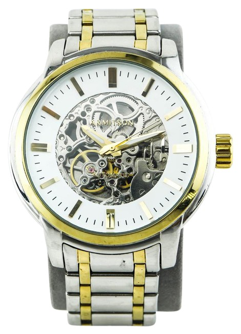 Item - Multicolor Skeleton Two Tone Watch