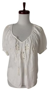 Rebecca Taylor Peasant Embroidered Top white
