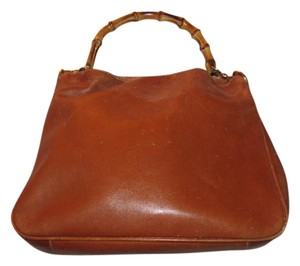 Gucci Excellent Vintage Two-way Style Sarah Flip-top Style Bamboo/equestrian Restored Lining Hobo Bag