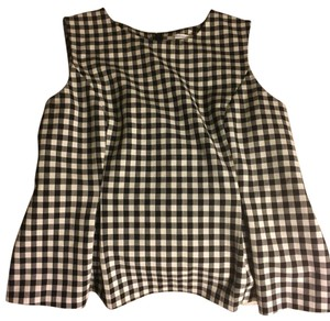 Diane von Furstenberg Gingham Top Black and white
