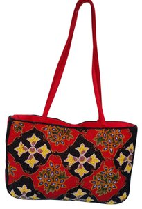 Barse Red Black Yellow Clutch
