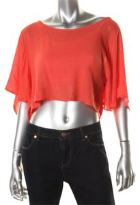 Stoosh Crop Tunic Material Girl Zara Top red