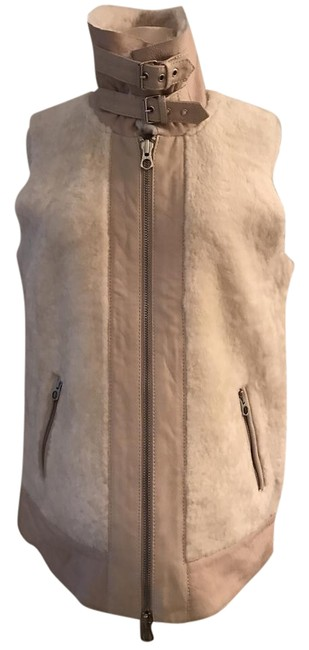 J.Crew Oyster White Madewell Shearling Nightwalk Vest Size 8 (M) J.Crew Oyster White Madewell Shearling Nightwalk Vest Size 8 (M) Image 1