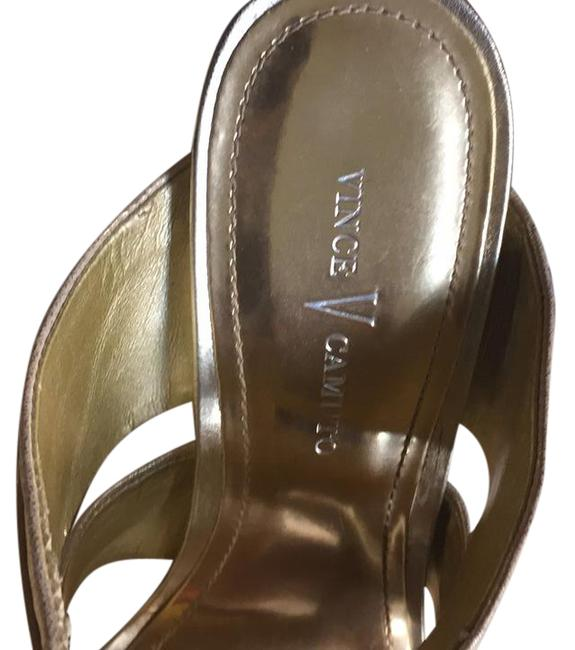Vince Camuto Gold Dolce Sandals Size US 7 Regular (M, B) Vince Camuto Gold Dolce Sandals Size US 7 Regular (M, B) Image 1