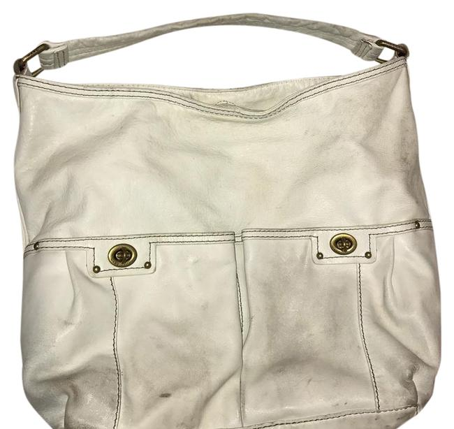 Marc Jacobs By White Leather Hobo Bag Marc Jacobs By White Leather Hobo Bag Image 1