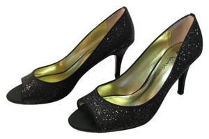Touch of Nina Size 8.50 M Sparkle Very Good Condition Black, Pumps