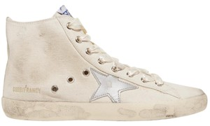 Golden Goose Deluxe Brand Ggdb Distressed Sneakers High Top Ivory Athletic