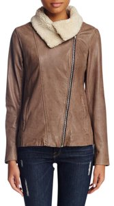 Soia & Kyo Taupe Leather Jacket