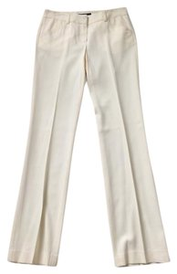 Theory Wool Slacks Trouser Pants ivory