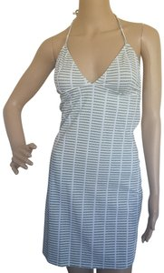 Burberry short dress Green, White Halter Sundress Monogram Nova Check Logo on Tradesy