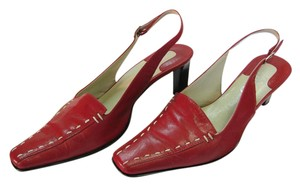 Franco Sarto Size 6.50 M Leather Good Condition Red, Pumps