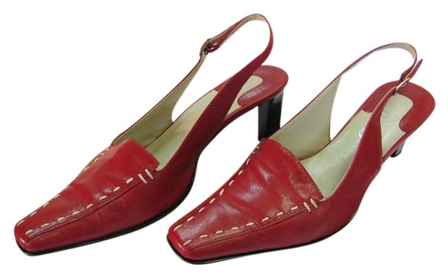 Franco Sarto Red M Leather Good Condition Pumps Size US 6.5 Regular (M, B) Franco Sarto Red M Leather Good Condition Pumps Size US 6.5 Regular (M, B) Image 1