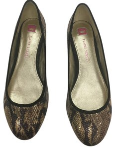 Elaine Turner black and gold Flats