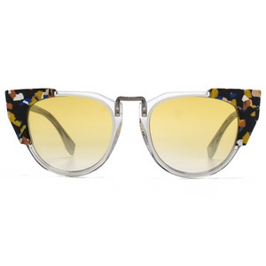 Fendi NEW Fendi 0074/S Galassia Cat Eye Yellow Tinted Sunglasses