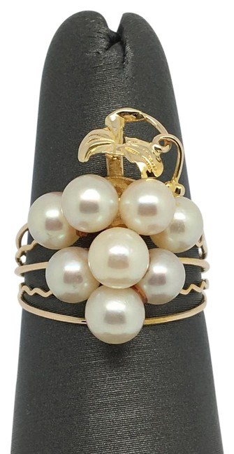 10k Yellow Gold Grape Style Natural Pearl Ring 10k Yellow Gold Grape Style Natural Pearl Ring Image 1