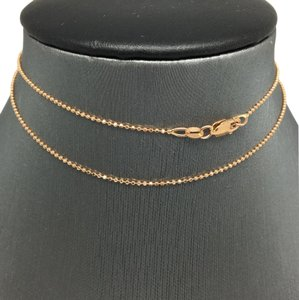 Other 14K Rose Gold Diamond Cut Bead Chain 18 Inches ~1.00mm