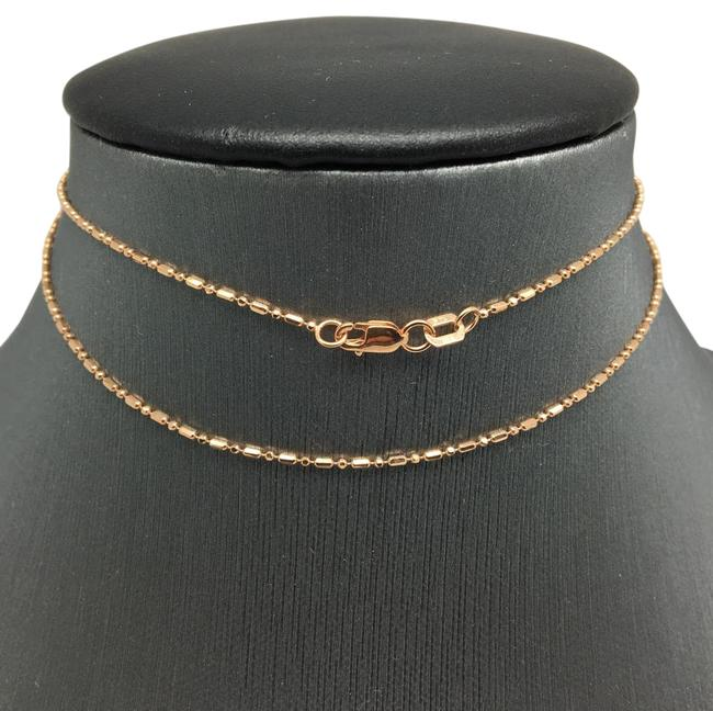 14k Rose Gold Mix Bead Chain 18 Inches ~1.00mm Necklace 14k Rose Gold Mix Bead Chain 18 Inches ~1.00mm Necklace Image 1