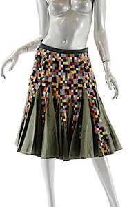 sacai Color Flounce Skirt Green with Multi