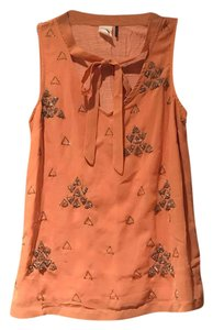 Anthropologie Top coral