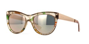 Gucci NEW Gucci GG 3739/S Flora Silk Gold Sunglasses
