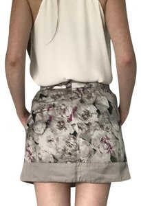 Gap Skirt Cream Floral Pattern