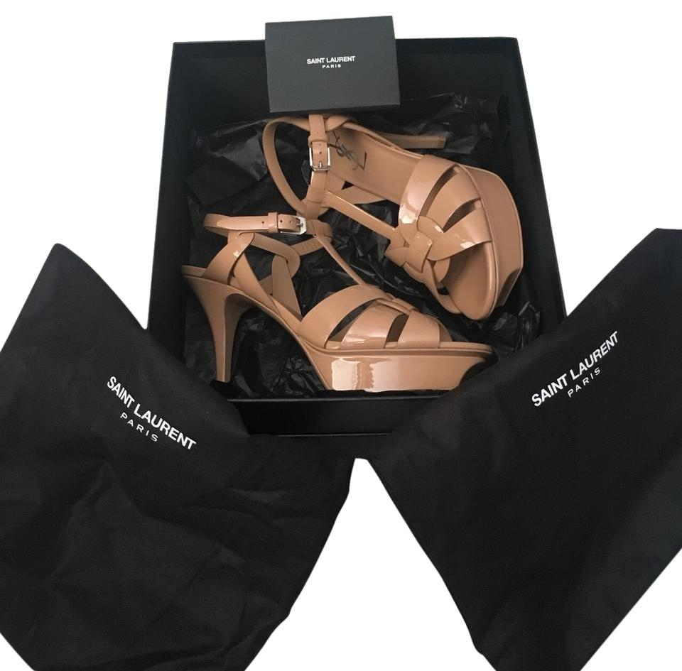 Saint Laurent Chiaro Beige Chiaro Laurent Tributes 75mm Platforms a94dd3