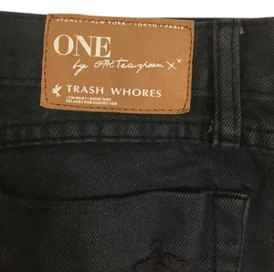One Teaspoon Super Trash Cut Off Shorts Dark Blue