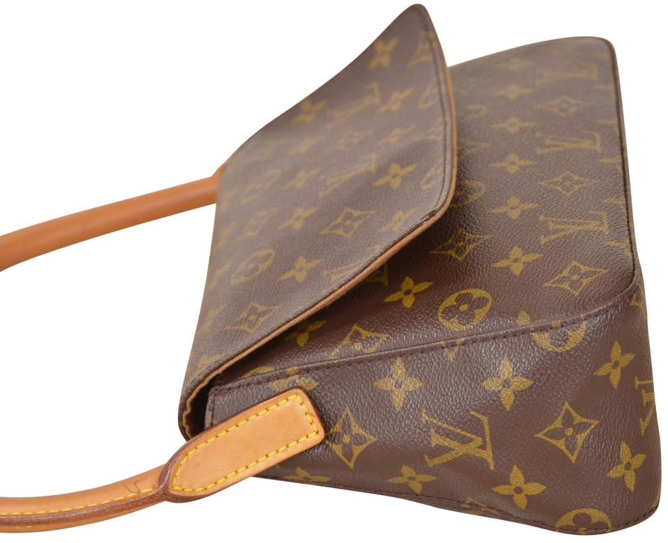 94539e4c28892 Louis Vuitton Looping Monogram Mini M51147 Brown Leather & Coated Canvas  Shoulder Bag - Tradesy