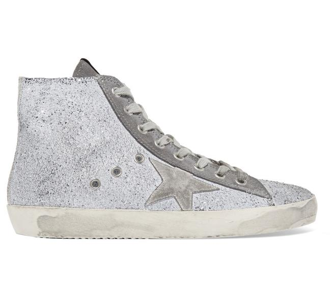 Item - Gray New Glittered Francy High-top Sneakers Size US 9 Regular (M, B)