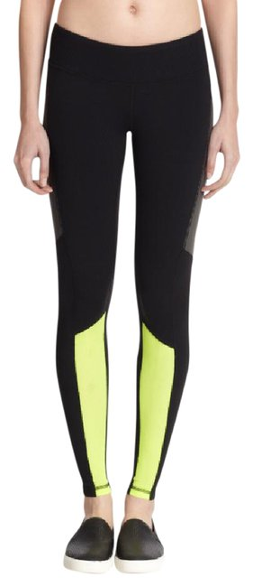 Item - Black & Yellow Yoga Swift Colorblock Performance Legging Activewear Bottoms Size 8 (M, 29, 30)
