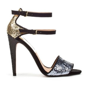 Zara Pewter Gold Black Platforms