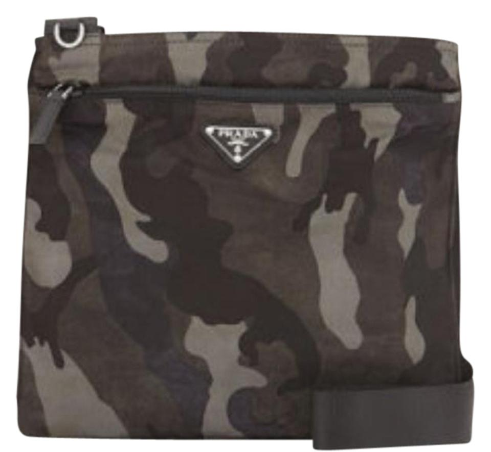 0939597c1fed Prada Tessuto Camouflage Print Gray/Black Nylon Cross Body Bag - Tradesy