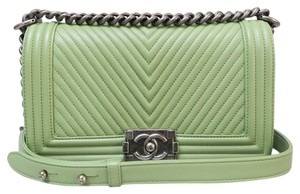 Chanel Chevron Medium Boy Shoulder Bag