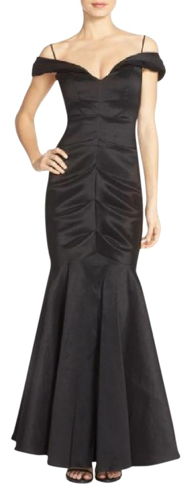 Xscape Black Off-the-shoulder Ruched Mermaid Gown Long Formal Dress ...