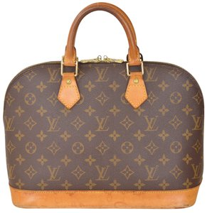 Louis Vuitton Alma Alma Monogram Handbag Satchel in Brown