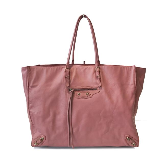 Item - Papier Pink Calfskin Leather Tote