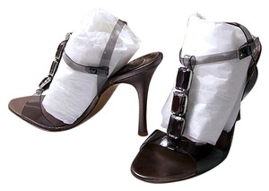Charles David Leather Smoke Sandals