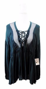 Free People Top forest green