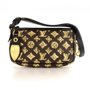 Louis Vuitton Pochette Monogram Canvas Eclipse Hobo Bag