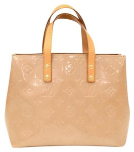 Louis Vuitton Leather Vernis Leather Hobo Bag