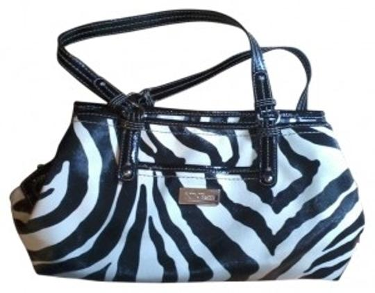 Preload https://item3.tradesy.com/images/nine-west-zebra-print-pures-black-and-white-rough-leather-tote-21257-0-0.jpg?width=440&height=440