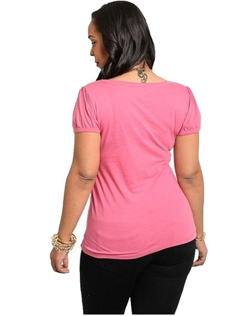 Finesse Plus Shirt Top Pink