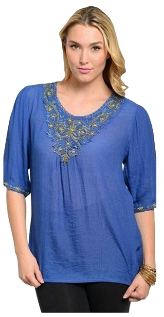 Preload https://item4.tradesy.com/images/multicolor-women-s-embellished-boho-embroidered-blouse-size-20-plus-1x-21257048-0-1.jpg?width=400&height=650