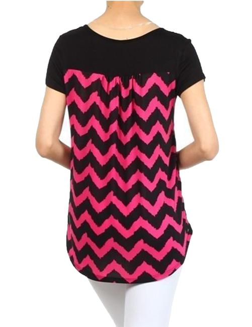 Superline Pink Blue Coral Top MultiColor