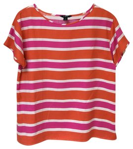 J.Crew Top Pink/Orange/White